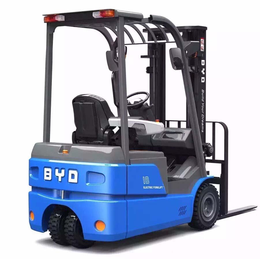 比亚迪1.8吨平衡重式电动叉车