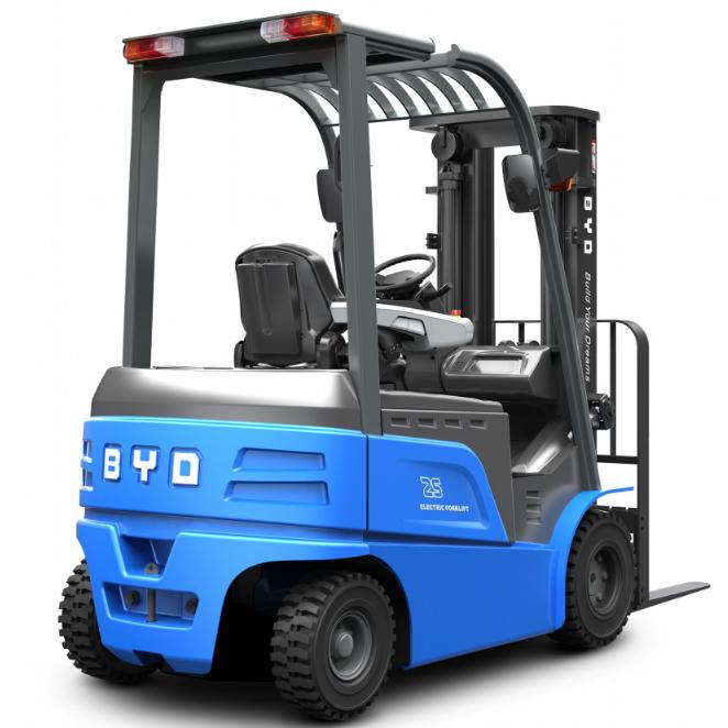 东莞市比亚迪2.5吨平衡重式电动叉车出租【价格 价格一览表 多少钱一个月】