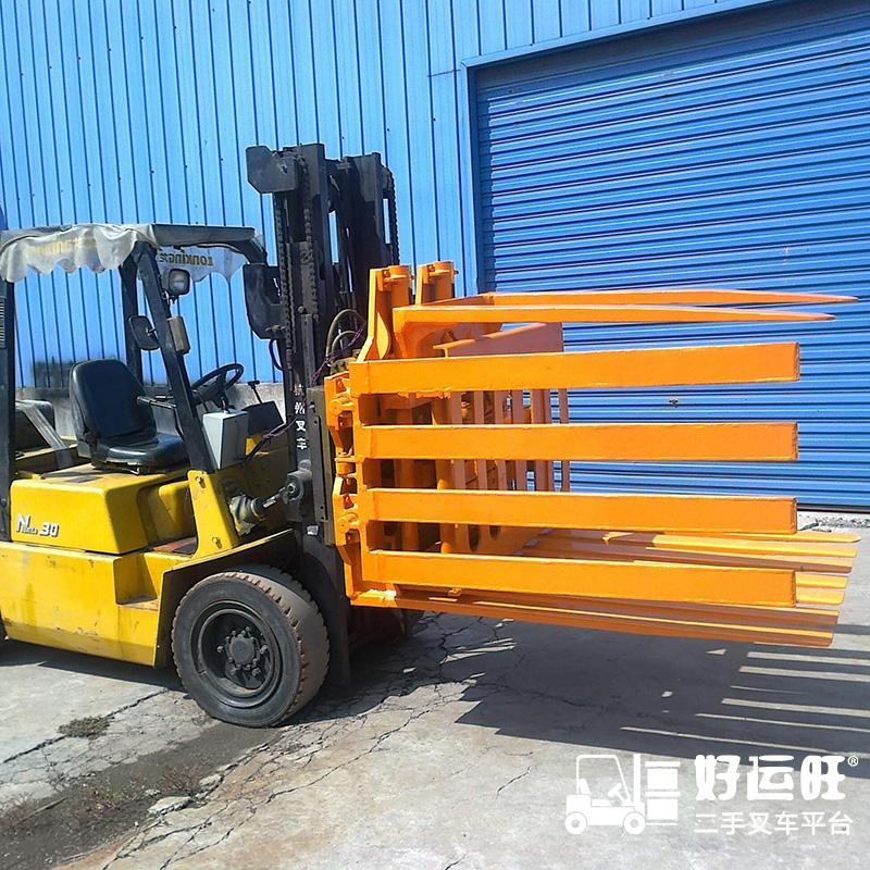 东莞市二手(旋转推出器)杭州叉车3吨柴油叉车出租